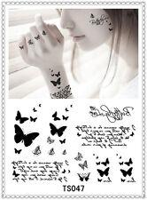 Butterfly Temporary Tattoo Sticker DIY Keep 3-5 days Waterproof 14x9cm TS047