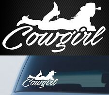 Cowgirl Car Horse Ute Rodeo 4x4 Country Girl Western Sticker Decal