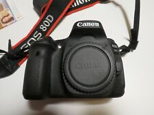 top Canon EOS 80D 24.2MP Digitalkamera mit OVP neuwertig Body Gehäuse