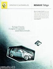 PUBLICITE ADVERTISING 046 2001  Renault la Twingo  Cinetic