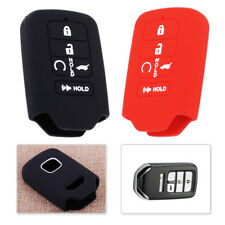 Red 5 Buttons Remote Key Shell Fob Case Cover Fit For Honda Civic Accord Pilot