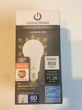 Green Creative LED Light Bulb 40746 A19-E26-9W-2700K 9W Equiv 60W 800 Lumens