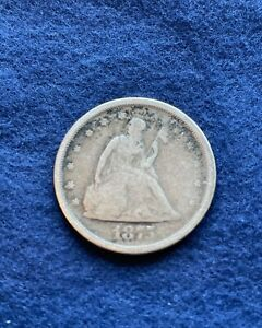 1875 S American Seated liberty 20 Cent Piece San Francisco Mint Circulated Nice