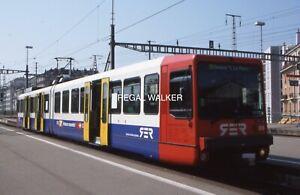 ORIGINAL 35MM OBB SWISS SWITZERLAND RAILWAY SLIDE - 550000 AT GENEVA 1999