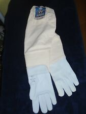 Goatskin Beekeeping gloves  size Large 1 Pair USA and Union Made    Apiary