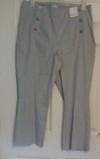 *BNWT* Per Una Marks and Spencer Navy Blue White Pinstripe Cropped Trousers 18