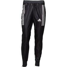"""Adidas Adizero Brillante nylon Wet Look pista Pantalones Negro S13516 38"""" Cintura D8 Grande"""