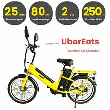 22'' Cargo Ebike 20Ah 48V 250W Yellow Electric Bicycle Long Range 80Km AU STOCK