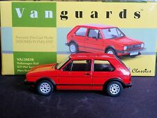 WOW EXTREMELY RARE 1/43 VANGUARDS VW GOLF MK1 GTI MARS RED NLA