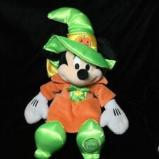 Disney Store Halloween Witch Green Orange Minnie Mouse Soft Toy Plush 16""