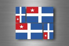 4x adesivi adesivo sticker bandiera vinyl tuning creta grecia