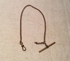 Antique Victorian Yellow Gold Filled Watch Fob Chain 11.75 Inches Long