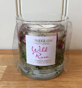 STONEGLOW CANDLES Botanic Collection WILD ROSE Natural Wax Gel Tumbler Gift