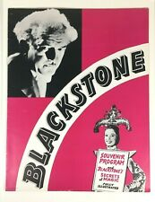 Vintage 1940s Harry Blackstone Sr. Magician Souvenir Program Illustrated