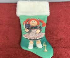 """Cabbage Patch Kid 1985: 15"""" Unused Christmas Stocking"""