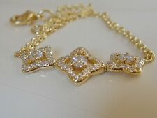 DAVID YURMAN 18K GOLD VENETIAN  QUATREFOIL DIAMOND CHAIN BRACELET