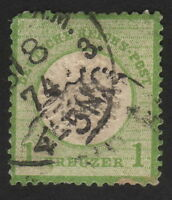 1872, Germany, German Empire, 1 Kr, Used, Large Shield, Mi 23, Sc 21