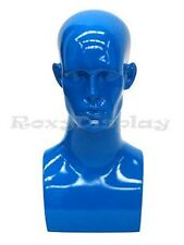 Male Mannequin Head Bust Wig Hat Jewelry Display #EraBlue