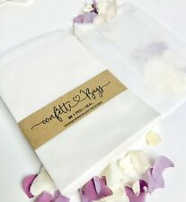 Confetti  Bags biodegradable Glassine 25/50 Peel + Seal  wedding Stamps-Soap Eco