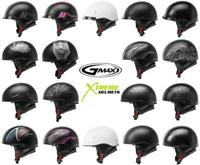 Gmax HH-65 Half Helmet Naked/Full Dressed Inner Shield Quick Release DOT XS-2XL