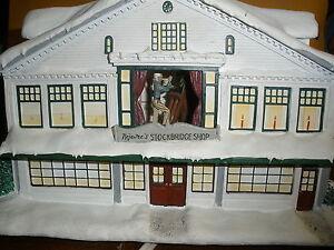 Rockwell's Hawthorne Village Christmas in Stockbridge Studio No 10073B Porcelain