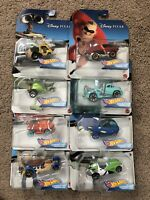 2020 Hot Wheels DISNEY PIXAR COMPLETE SET Character Cars Nemo Monsters Toy Story