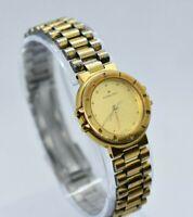 Vintage Ladies Hamilton Gold Tone Quartz Watch - Roman Numerals, No Crown (P/R)