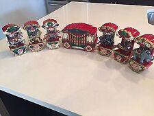 Mr. Christmas Holiday Circus Carousel irca 1874. 6 Animals Motion Lights Music
