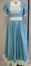 TURQUOISE COTTON CALICO WOVEN NON STRETCH STAGE COSTUME --SZ 10-MED