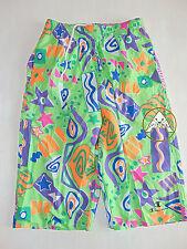 Vintage 90 CHAMPION Boxer XL Shorts Costume Beach Pantaloncini Verde 80 Fucsia