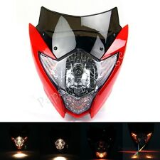 Universal Street Fighter Head Light Fairing For Honda XR125L CRF100F XR100 Red