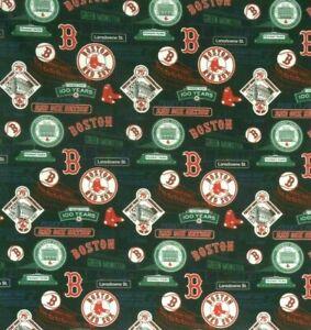 Bandanna for Boston Red Sox  Baseball on Black 100% Cotton #649 Handmade