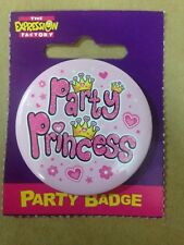 Birthday Celebration Party Badge PARTY PRINCESS