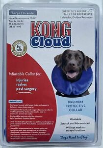 """KONG Cloud Inflatable Protective Collar For Large Dogs, Neck Size 15-20"""""""