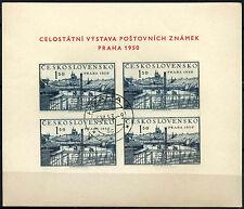 CECOSLOVACCHIA 1950 ESPOSIZIONE FILATELICA sg#ms608a usato CTO M/S #d40331
