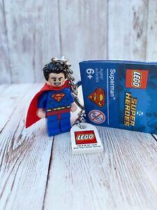 GENUINE LEGO SUPERMAN DC SUPERHEROES MINIFIGURE KEYRING 853952