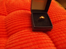 22ct,0.43 CTygold DIAMOND solitaire and 2 diamond accent ring SIZE J USED