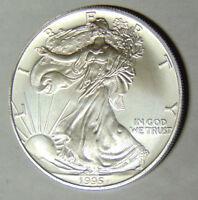1995 American Silver Eagle 1 oz .999 Fine Silver Dollar Uncirculated (pk.rm)