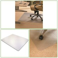 """CHAIR MAT House Office Floor Protector 48"""" x 60"""" Durable Carpet Clear Pads"""