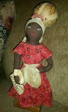 Black Americana Folk Art Doll Figure Primitive handmade- w/water carrier on head