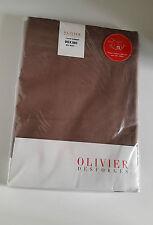 OLIVIER DESFORGES CACHE SOMMIER 90X190 CM EN COTON ET LIN BICOLORE MARRON BLANC