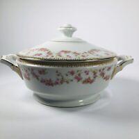 Winterling Bavaria Rosebud Pattern Covered Dish Tureen vintage German Porcelain