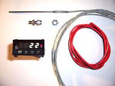 RSR Abgastemperatur Anzeige SET WEIß + ALARM  EGT Gauge 16V G60 VR6 Turbo 1,8T R