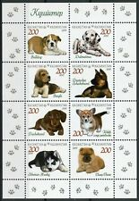 Kazakhstan Dogs Stamps 2019 MNH Puppies Dachshund Beagle Bulldog Corgi 8v M/S