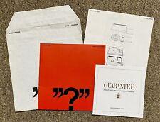 BANG & OLUFSEN Beogram 4000 Original Manual / Instruction Booklet With Leaflets