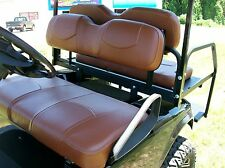 EZ-GO RXV, Rear Flip Seat and Custom Seat Cover Combo Pkg(Front & Rear)