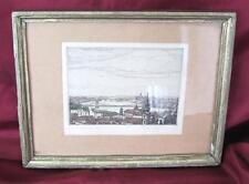 19C. ANTIQUE ORIGINAL ERVIN BARTA PICTURE FRAMED COLOR LITHOGRAPHY