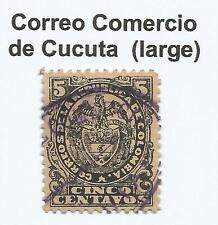 "COLOMBIA. 1892 5c Black. SG: 152b. Large Oval Type on The ""Correo del Comercio"""