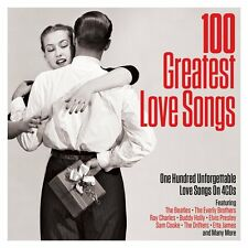 100 Greatest Love Songs 4 Cd Set Elvis Beatles Everly Brothers Platters +More