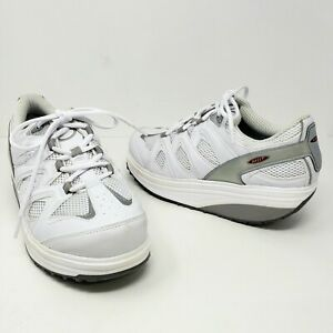MBT Sport Womens 10 Walking Shoe White Rocker Toning Comfort Athletic 400167-16